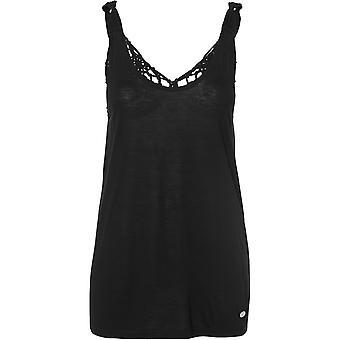 ONeill MACRAME tillbaka ärmlös T-shirt i svart ut
