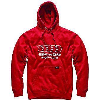 Dickies Mens Arkley Logo Hoodie Hooded Sweatshirt rode SH11600