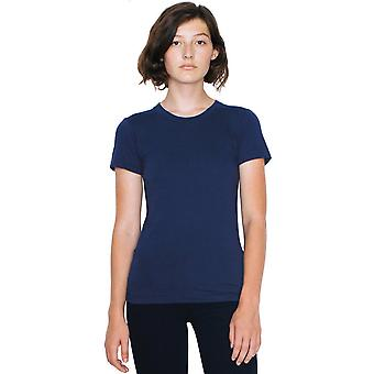 American Apparel das mulheres/senhoras bem Jersey manga curta camiseta de algodão