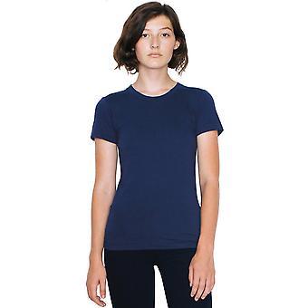 American Apparel mujeres/señoras Jersey fino algodón de manga corta camiseta