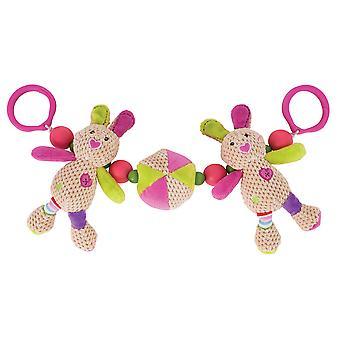 Bigjigs Toys Soft Plush Bella Pram String Sensory Activity Newborn Buggy Baby