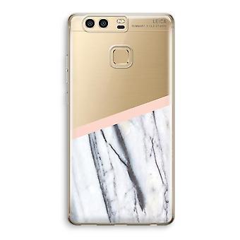 Huawei P9 gjennomsiktig sak (myk) - et snev av fersken