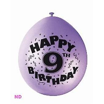 "Ballonnen 'HAPPY 9th BIRTHDAY' 9"" Latex ballonnen (10)"