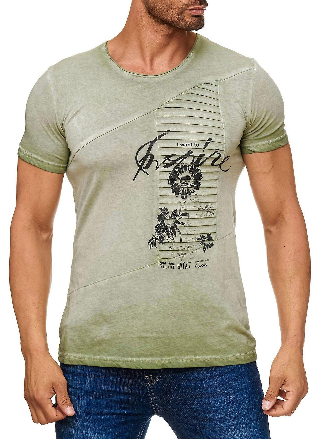 Mäns T shirt blommig blommig Rose Biker Print Kortärmad skjorta Font Club