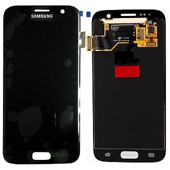 Wyświetlanie pełnego zestawu LCD czarny do Samsung Galaxy S7 G930 G930F GH97 18523A