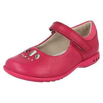 Girls Clarks Casual Shoes with Lights Trixi Spice