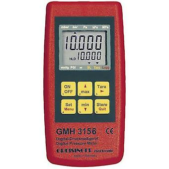 Greisinger GMH 3156 pressão manométrica pressão de ar, líquido 2.5 - 400 bar função Datalogger