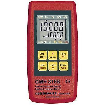Greisinger GMH 3156 Pressure gauge Air pressure, Liquid 2.5 - 400 bar Datalogger function