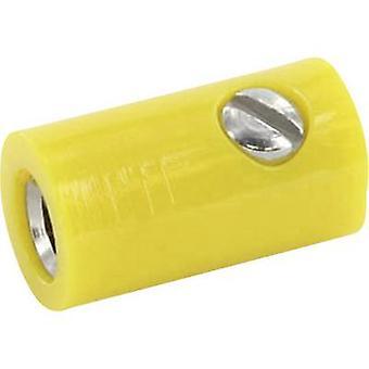 econ جاك HOKGE مأخذ توصيل موصل، الاتصال مباشرة القطر Pin: 2.6 مم pc(s) صفراء 1
