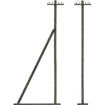 Busch 1499 H0 8 telegraph poles Assembly kit