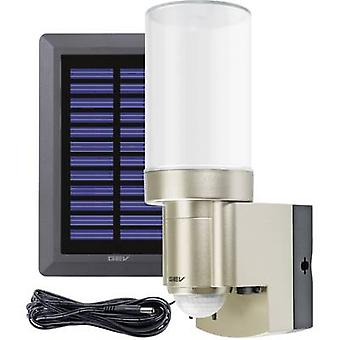 GEV LPL 14831 014831 Solar outdoor wall light ( + motion detector) 3 W Daylight white Stainless steel