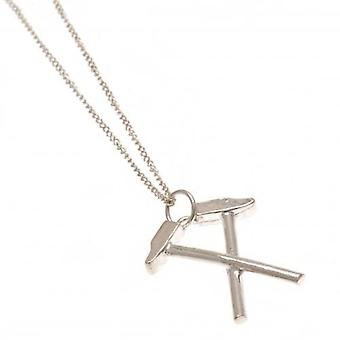 West Ham United Sterling Silver Pendant & Chain HM