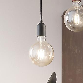 Ideal Lux es SP1 solo lámpara colgante negro con emparejar la tela Flex