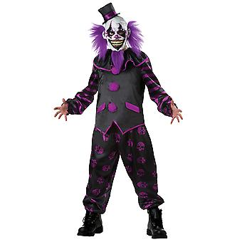 Bearded Clown Joker Jester Horror Creepy Evil Scary Halloween Mens Costume