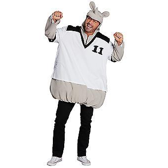 Stor Rino Rinotunika Rhinoceros Rhinoceros kostyme unisex