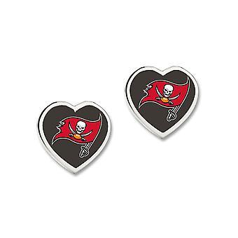 Wincraft dames 3D hart Stud Oorbellen - NFL Tampa Bay Buccaneers