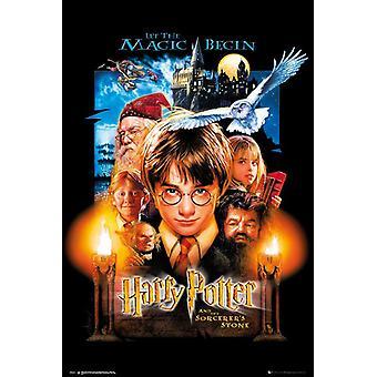 Harry Potter y la piedra de los sabios posters de Harry, Hermione, Ron, Dumbledore y Hagrid. 91.5 x 61 cm