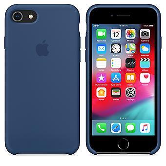 Originele verpakte Apple Siliconen Microfiber Cover Cover Case voor iPhone 8/7/iPhone SE 2020 - Kobalt Blue