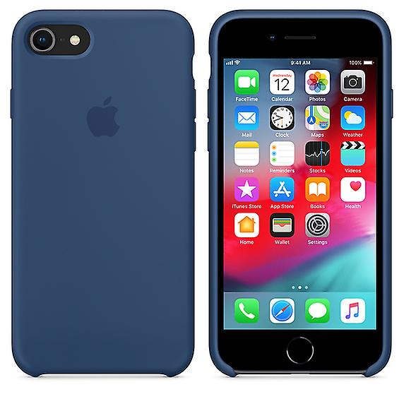Original packaging Apple silicone Micro Fiber cover case for iPhone 8 / 7 - cobalt blue