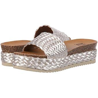 LFL by Lust for Life Womens L-Park Fabric Open Toe Casual Slide Sandals