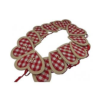 Gisela Graham Advent Calendar - Felt Heart Chain