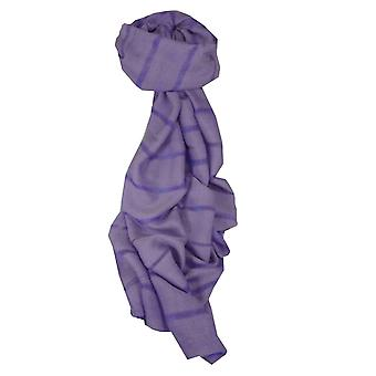 Vietnamese Long Silk Scarf Hue Weave Violet by Pashmina & Silk