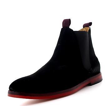 Mens H por Hudson Tamper camurça inteligente elástica Casual Chelsea botins