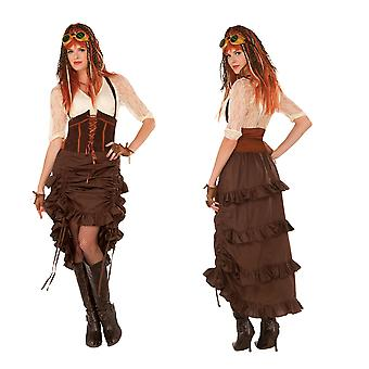 Steampunk Skirt, Brown, Drawstring