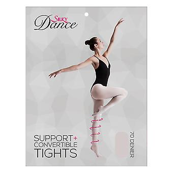 Silky Womens/Ladies Convertible Dance Support Tights (1 Pair)