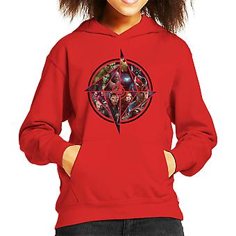Marvel Avengers Infinity War Character Montage Kid's Hooded Sweatshirt