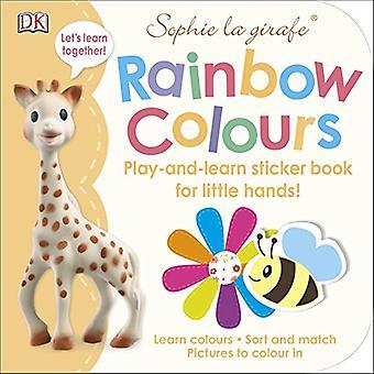 Sophie la girafe regenboog kleuren