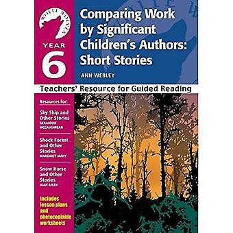 Sammenligning av betydelig barnas forfattere - noveller: år 6: Teachers' ressurs (hvit ulver)