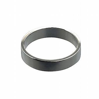 18 hvidguld 4mm almindelig flat Wedding Ring størrelse Pedersen