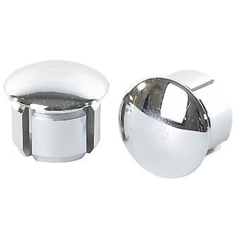 Velox handlebar plugs / / chrome