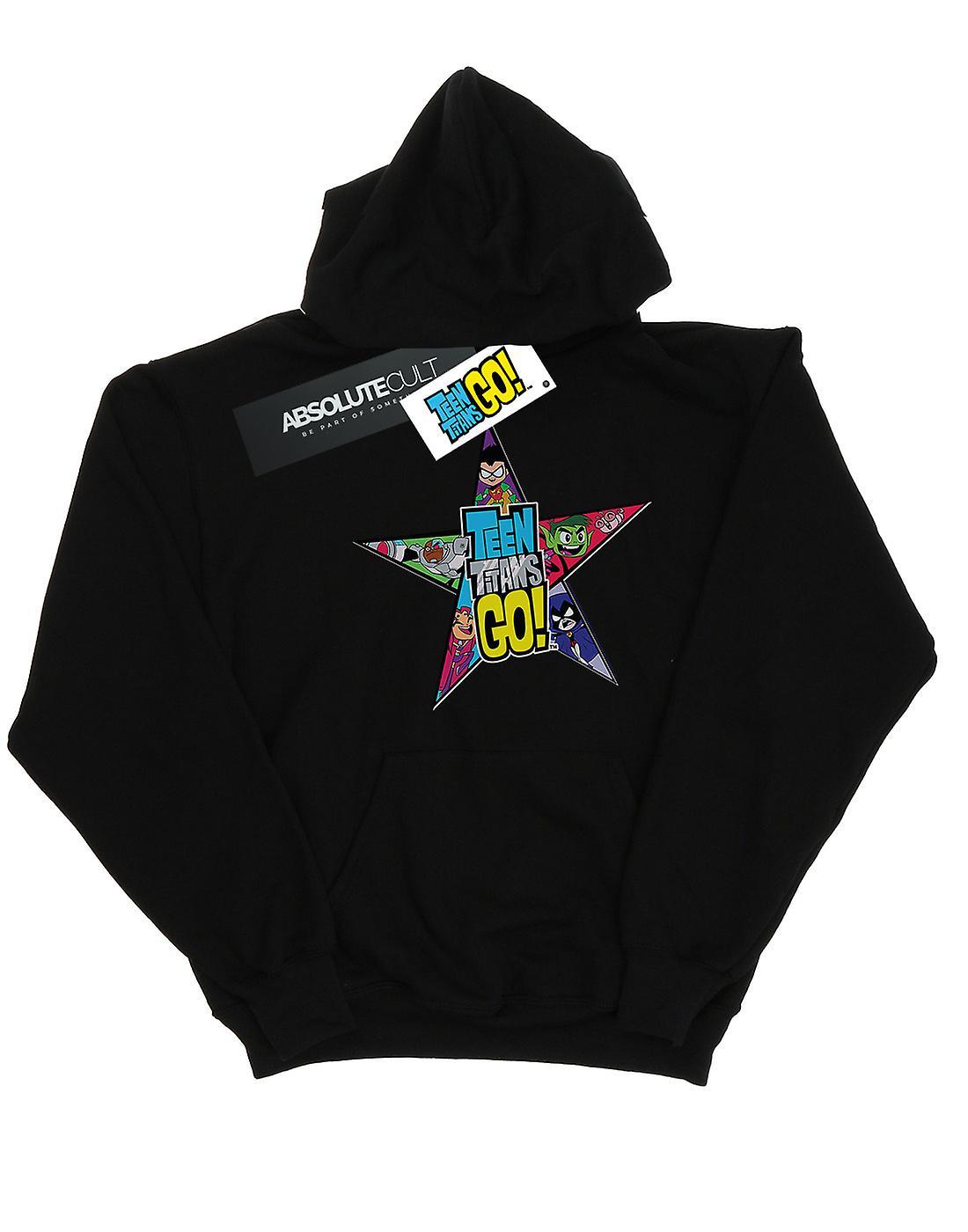 DC Comics Boys Teen Titans Go Star Logo Hoodie