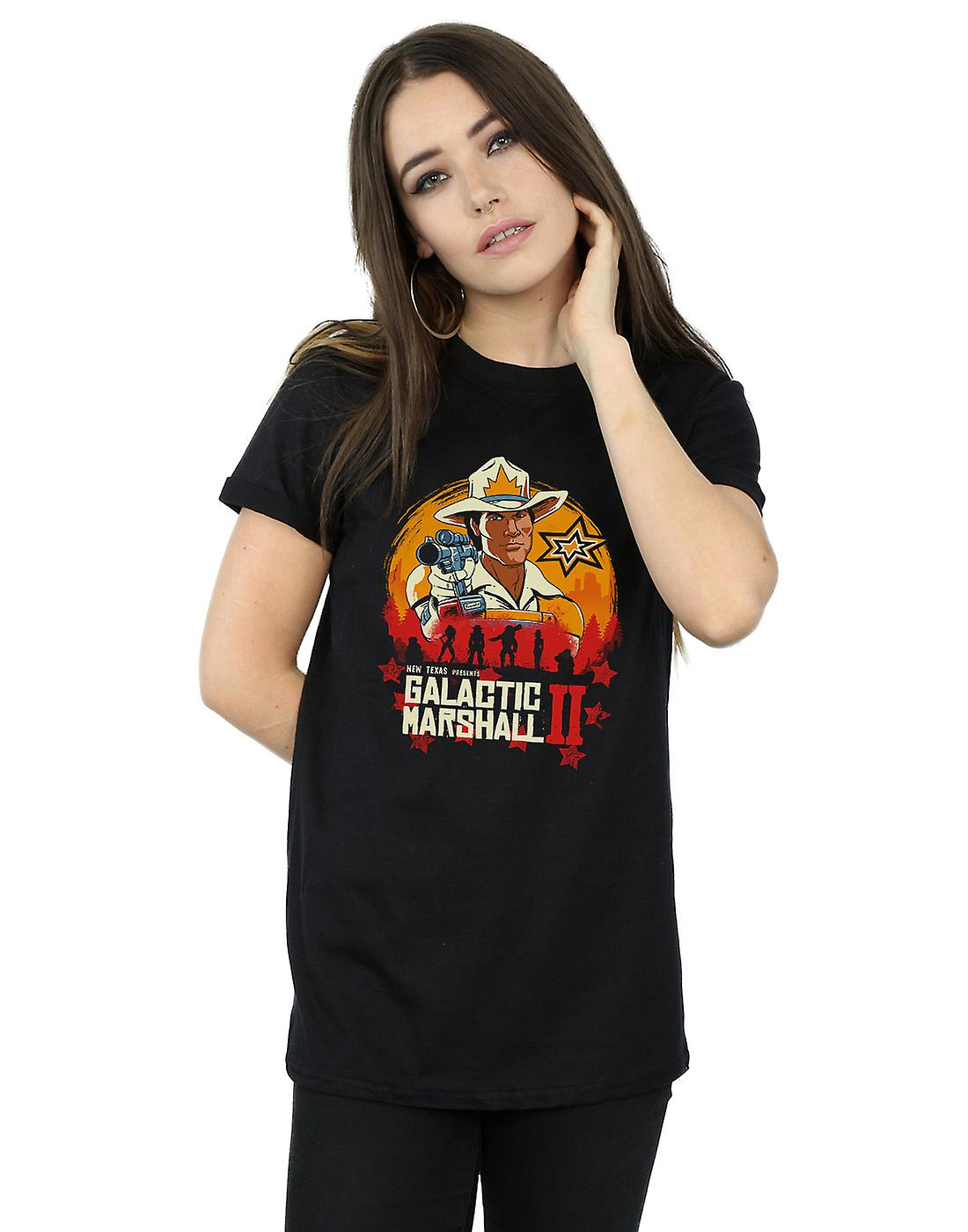 Vincent Trinidad Women's Red Galactic Marshall II Boyfriend Fit T-Shirt