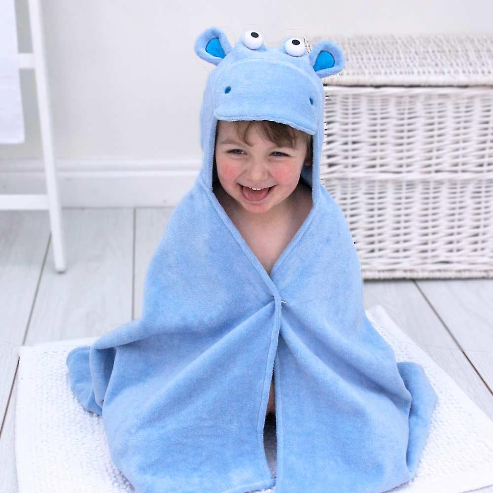 Handsome Hippo toddler towel