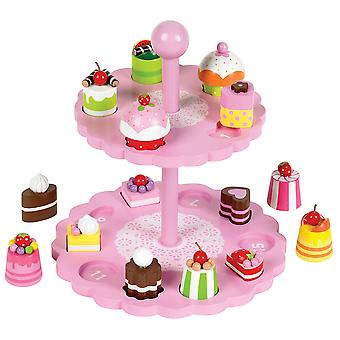 Tidlo Holz High Tea Form passend Play Set Kuchen Rollenspiel Essen Rollenspiel