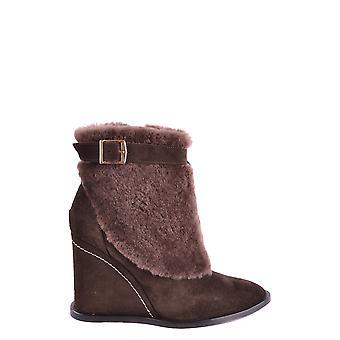 Paloma Barceló Ezbc129002 Women's Brown Suede Ankle Boots