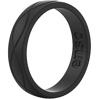 Enso Rings Women's Infinity Series Silicone Ring - Obsidian