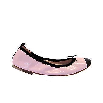 Bloch Bl483iroseblack Women's Black/pink Patent Leather Flats