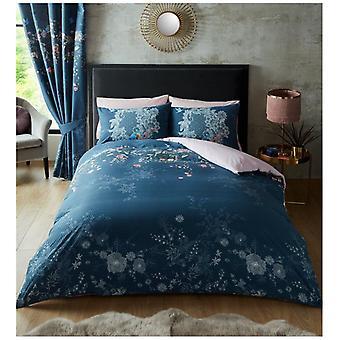 Bella mehrfarbige Blumen gedruckt moderne Bettdecke Quilt Cover Floral Bettwäsche Set