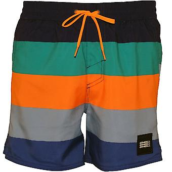 O'Neill Vert horisont ränder simma Shorts, blå/orange