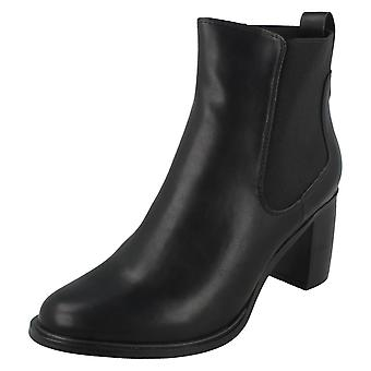 Ladies Spot On Heeled Ankle Boot