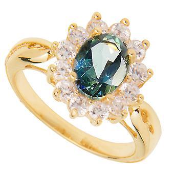 اه! المجوهرات الغابات المطيرة توباز الذهب شغل خاتم