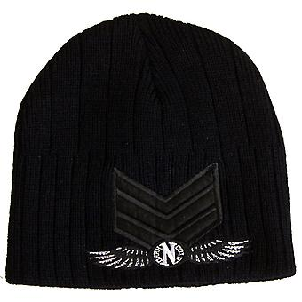 Darkncold Ribbed Army Beanie Black