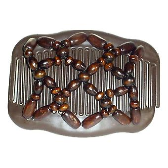 Chignon Comb 704 Brown from TIKITIBOO by Pashmina & Silk