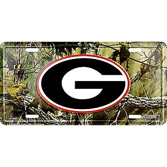 Georgia Bulldogs NCAA Camo License Plate