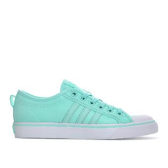 Womens adidas Originals Nizza Trainers In Clear Mint