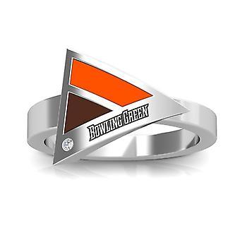 Bowling Green State University diamant ring i sterling sølv design af BIXLER